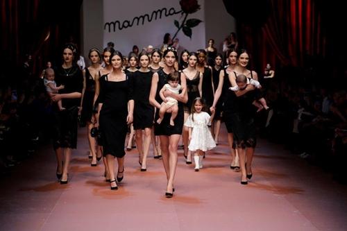 Motherhood celebrated at Milan Fashion Week