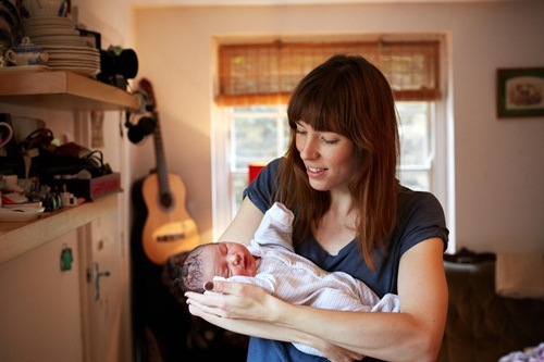 One Day Young: a portrait series of mothers and their newborns