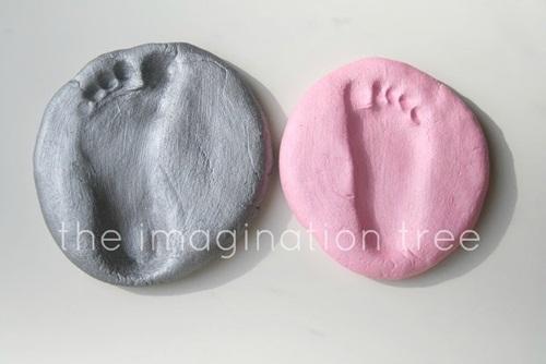 salt dough footprints