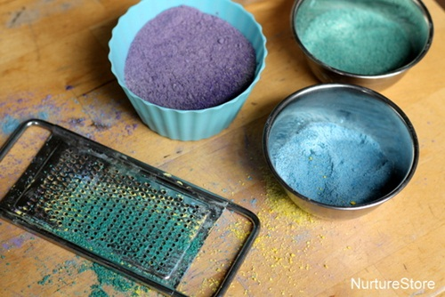 how to colour sand