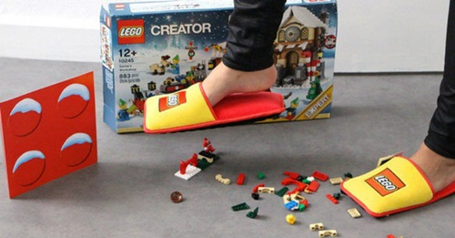 Slippers to Take the Edge Off Standing On LEGO