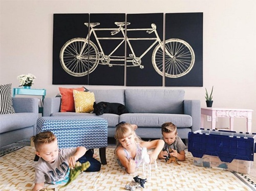 Children in living room