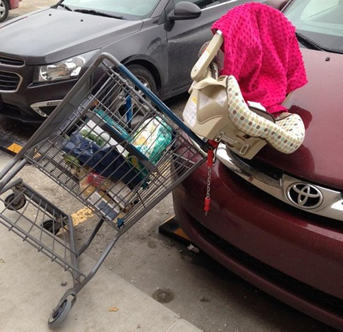 Car seat and trolley