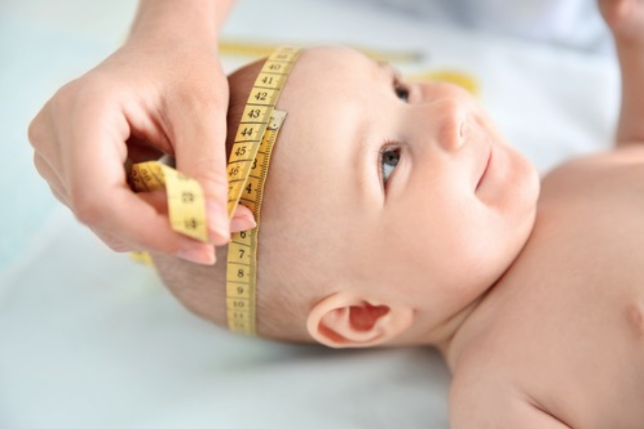 Measuring a baby's head