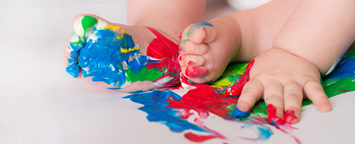 Edible, Dairy-Free Baby Paints
